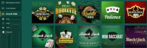 jeux de tables crésus casino