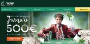 offre de bienvenue casino en ligne Crésus Casino