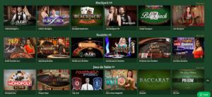 gamme de jeu sur le casino en ligne Dublin Bet