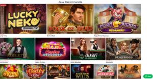 gamme de jeu casino en ligne Lucky31