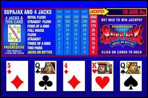 logo superjax video poker