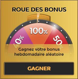 La roue des bonus