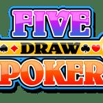 Five draw video poker logo