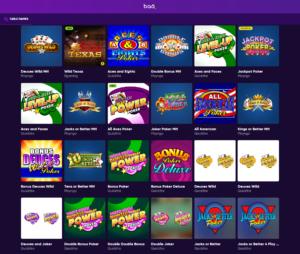 gamme de jeu bao casino