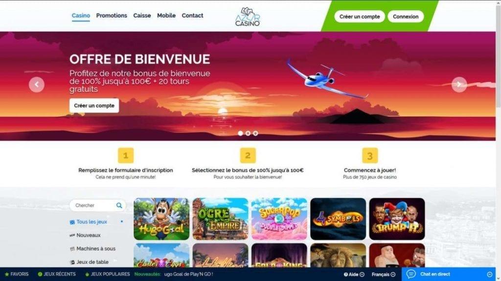 Le casino en ligne Azur Casino