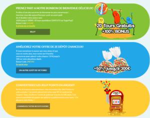 bonus et offres promotionnelles jelly bean casino