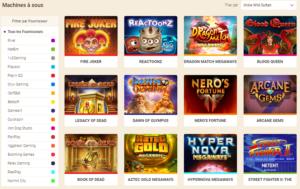 Wild Sultan Casino gamme de jeu