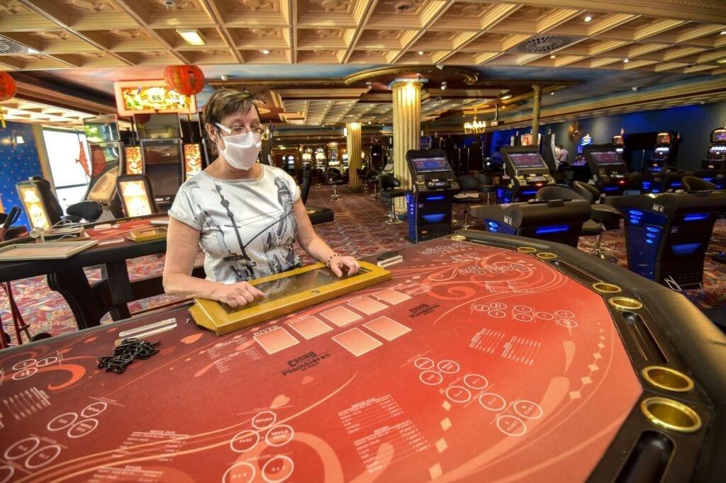 Port de masque dans les casinos