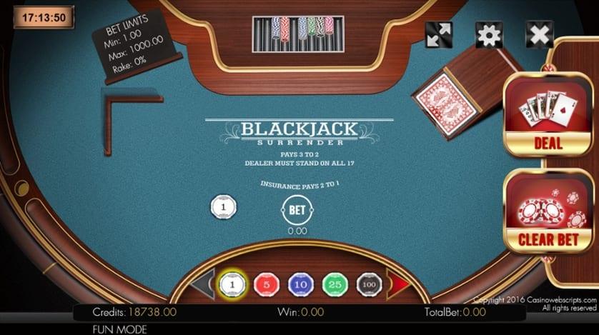 mode fun blackjack