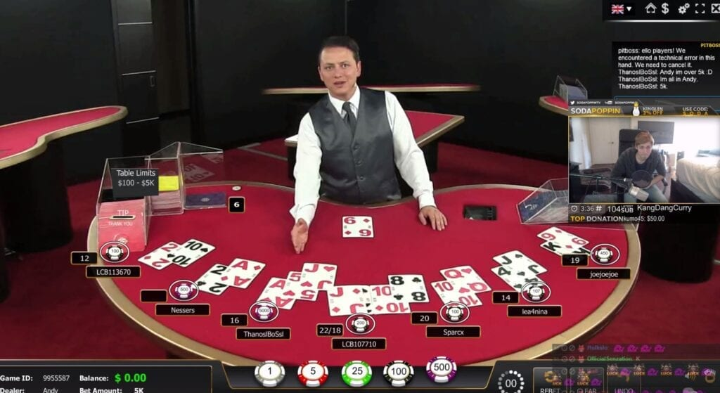 chance morris perd au blackjack