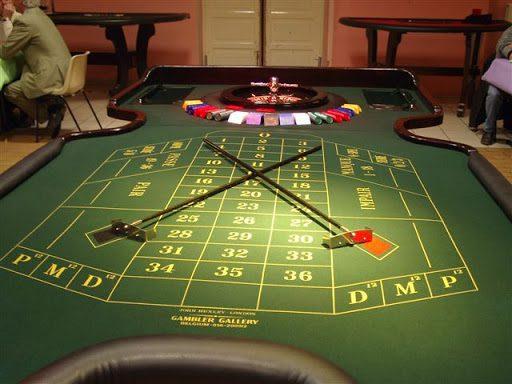 tapis de roulette anglaise dans un casino