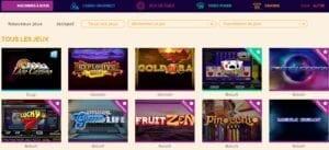 arlequin casino gamme de jeux