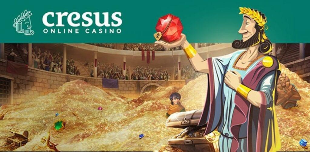 bannière sur la page d'accueil de Cresus casino