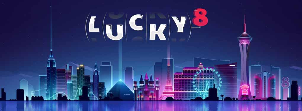 bannière sur la page d'accueil de Lucky8