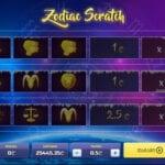 jeu grattage Zodiac Scratch
