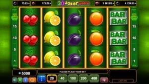 Slot 20 Joker Reels EGT Interactive