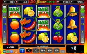 30 spicy fruits machine a sous egt