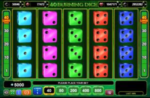 40 burning dice machine a sous