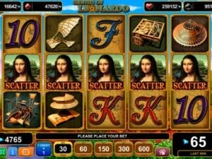 Slot progressif Genius of Leonardo EGT Interactive