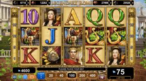 legendary rome slot egt