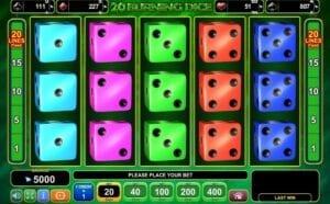 20 burning dice machine a sous egt