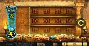 jouer The Golden Vault of the Pharaohs Power Bet